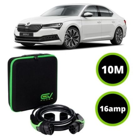 Type 2 to Type 2 - 10M - 16amp - Skoda Superb Charging Cable