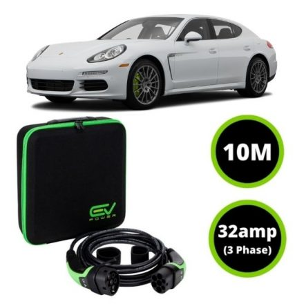 Type 2 to Type 2 - 10M - 32amp (3 Phase) - Porsche Panamera Charging Cable