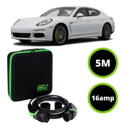 Type 2 to Type 2 - 5M - 16amp - Porsche Panamera Charging Cable