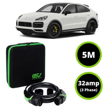 Type 2 to Type 2 - 5M - 32amp (3 Phase) - Porsche Cayenne E Charging Cable