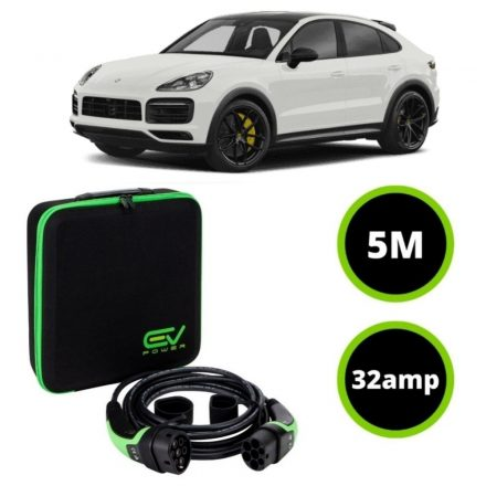 Type 2 to Type 2 - 5M - 32amp - Porsche Cayenne E Charging Cable