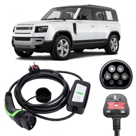 Land Rover Defender Charging Cables 3 pin to type 2